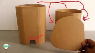 cara membuat tempat sampah dari kardus sepatu