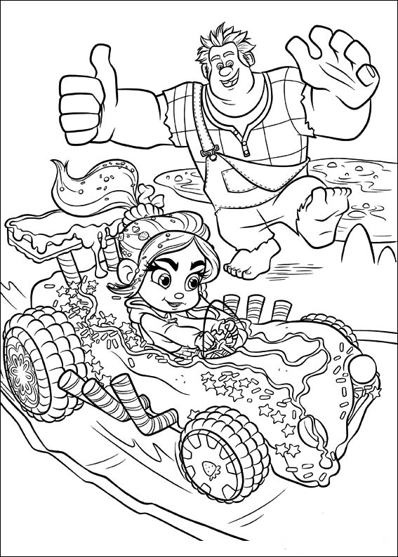 "disney cars coloring pages games | Disney Soul: Dibujos para colorear de ""¡Rompe Ralph!"""