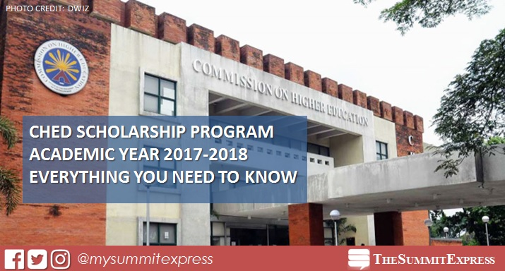 CHED Scholarship Program AY 2017-2018
