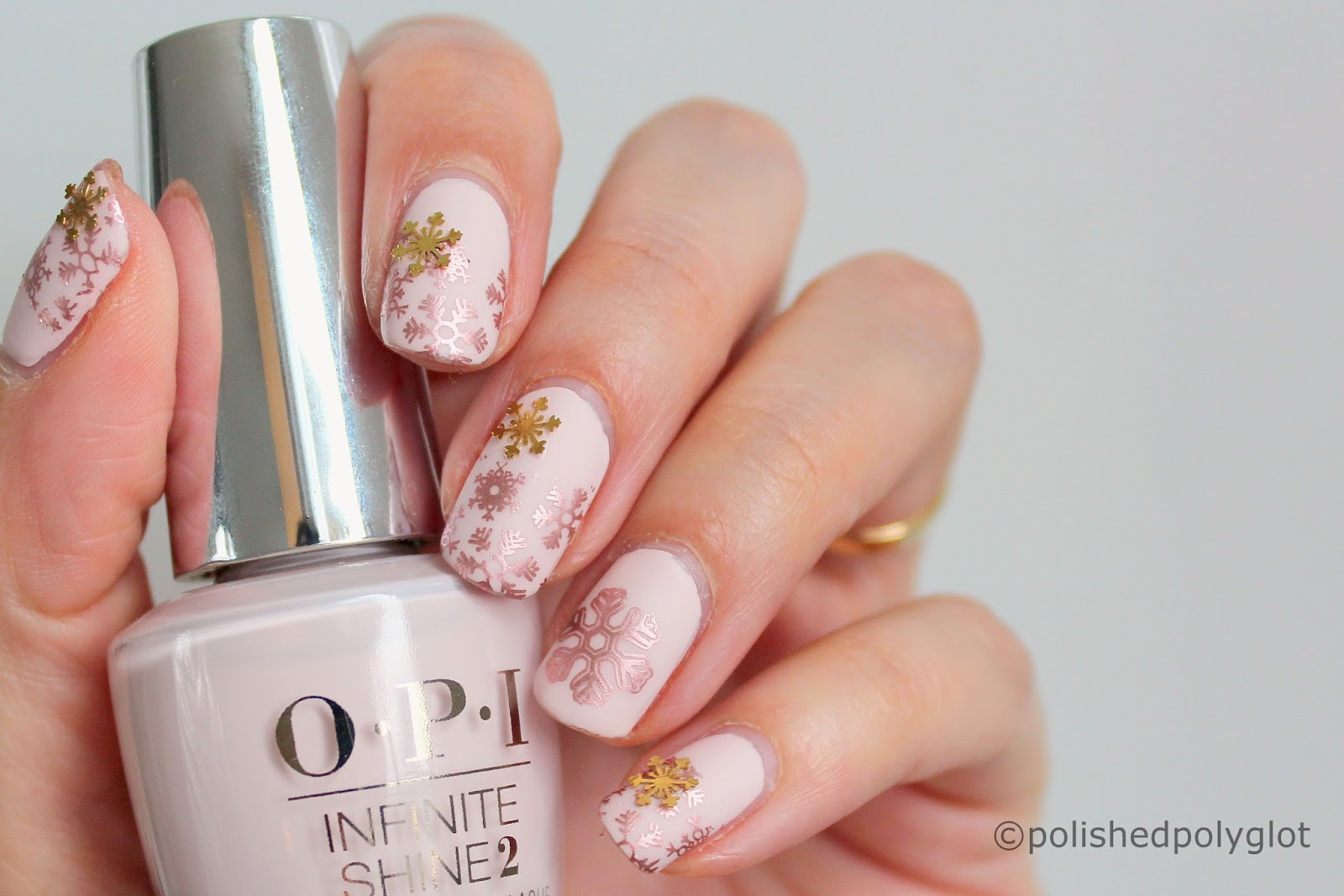 Us To Create A Golden Snowflakes Manicure And The 26 Great Nail Art Ideas Challenge That Invited Do An Embellished 3D Design