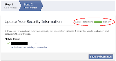 Update Your Securiy Information - Add phone number