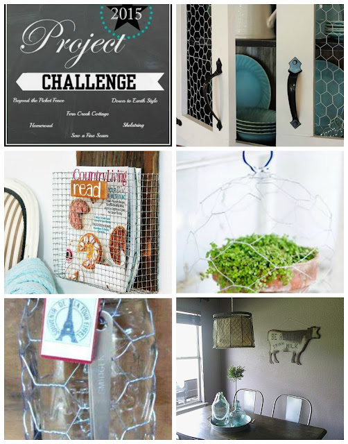 chicken wire, magazine holder, http://bec4-beyondthepicketfence.blogspot.com/2015/08/project-challenge-chicken-wirescreen.html