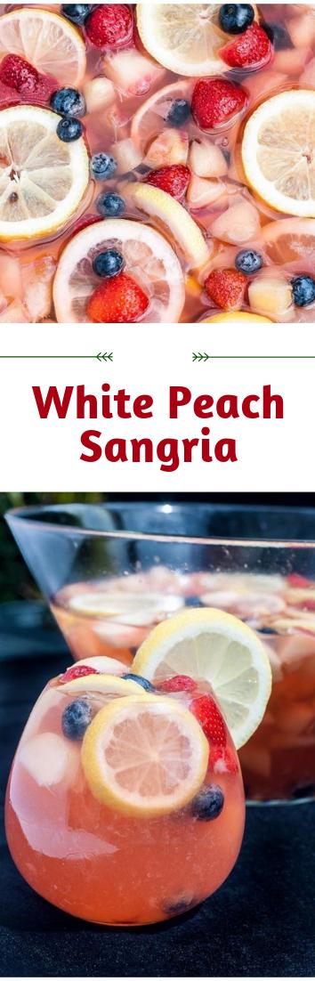 White Peach Sangria #cocktail #recipeDrink