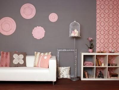 dormitorio niña gris y rosa