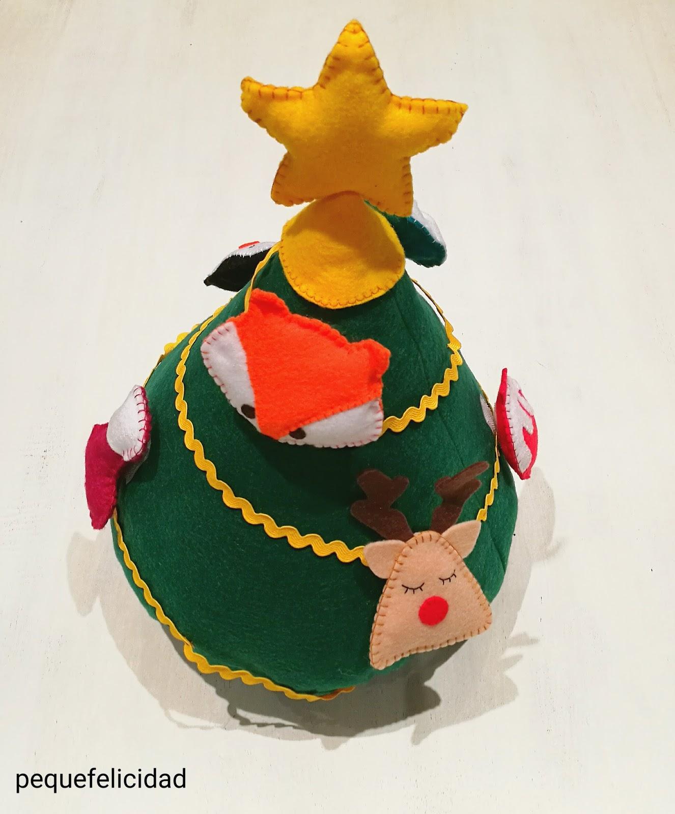 Pequefelicidad Arbol De Navidad Montessori - Arbol-de-navidad-artesanal