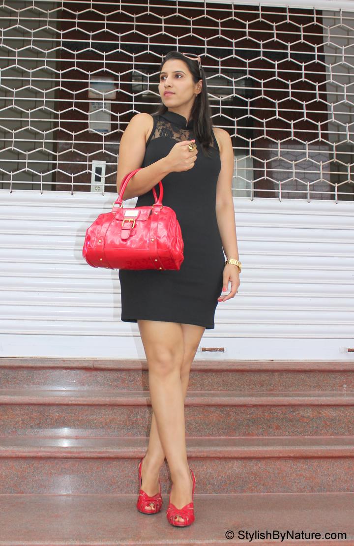 Fashion Trend Lace Panel Little Black Dress Stylish By