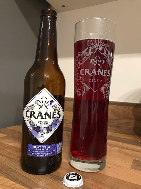 Cranes Cider Blueberry and Apple