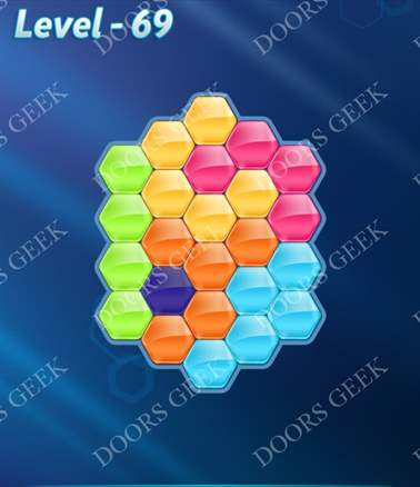 Block! Hexa Puzzle [6 Mania] Level 69 Solution, Cheats, Walkthrough for android, iphone, ipad, ipod