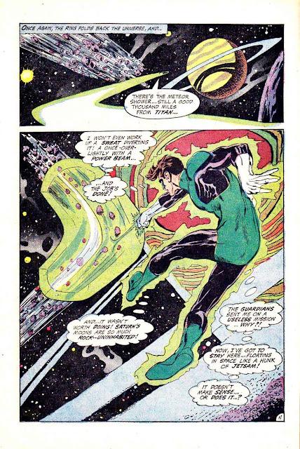 Neal Adams silver age 1970s dc comic book page art / Green Lantern Green Arrow #76