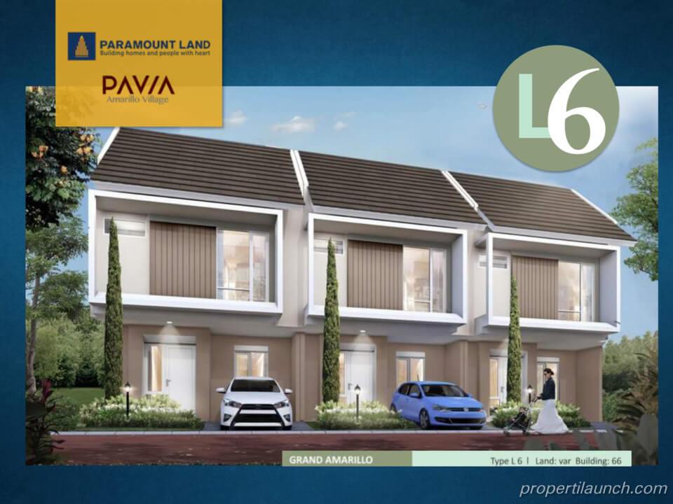 Rumah Pavia Amarillo Village Tipe L6