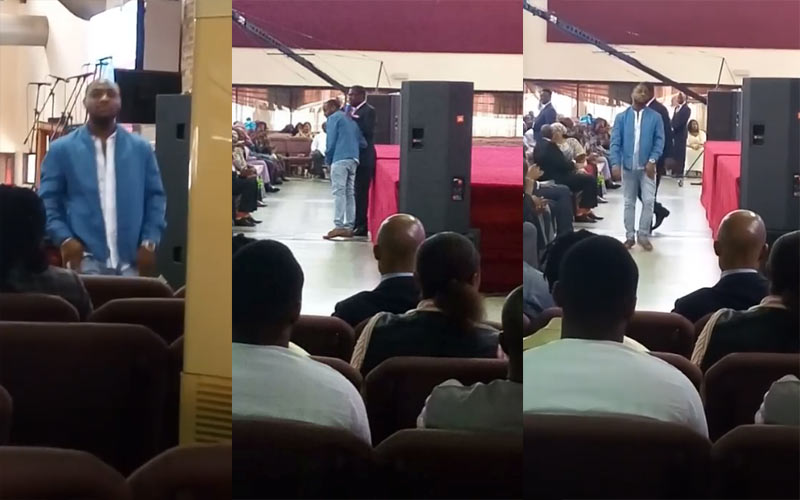 Video: Signer Davido shares testimony in church