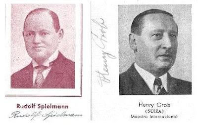 Los ajedrecistas Rudolf Spielmann y Henry Grob