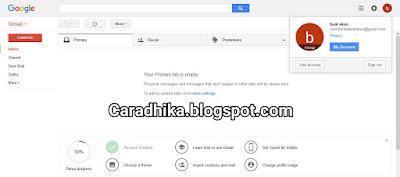 Cara Daftar Gmail Lewat Pc atau komputer