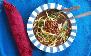 Sambal Kagang Udon Noodle Soup for #ChefYaki #Fortune