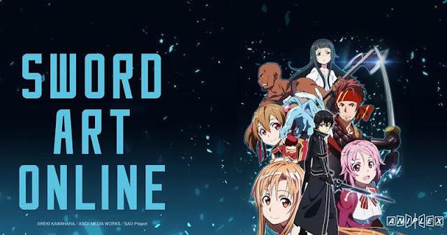 Sword Art Online Daftar Anime Isekai Terbaik ( Tokoh Utama Masuk Dunia Lain )