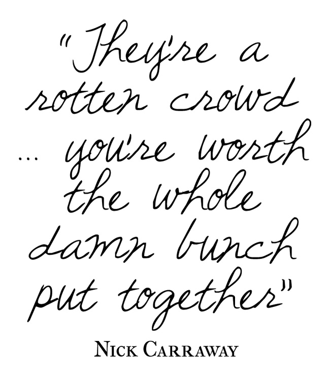 The Great Gatsby Quotes Nick. QuotesGram