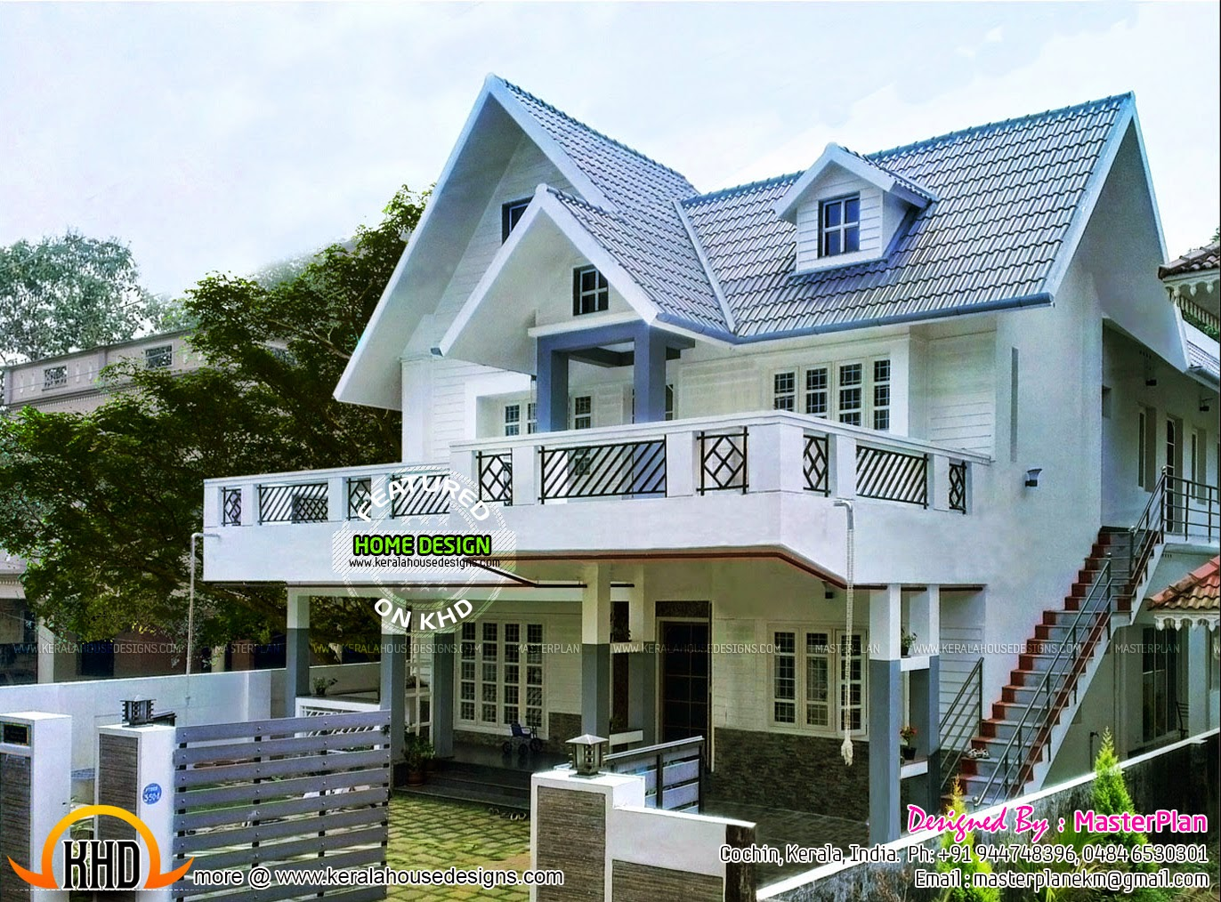 Kerala home design and floor plans work finished colonial for House plans with finished photos