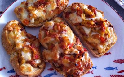 recette  Tartine tomate-courgette
