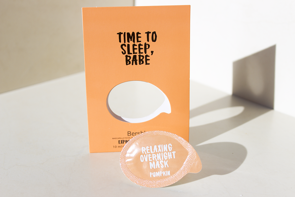 "Bershka ""Time To Sleep, Babe"" overnight mask review"