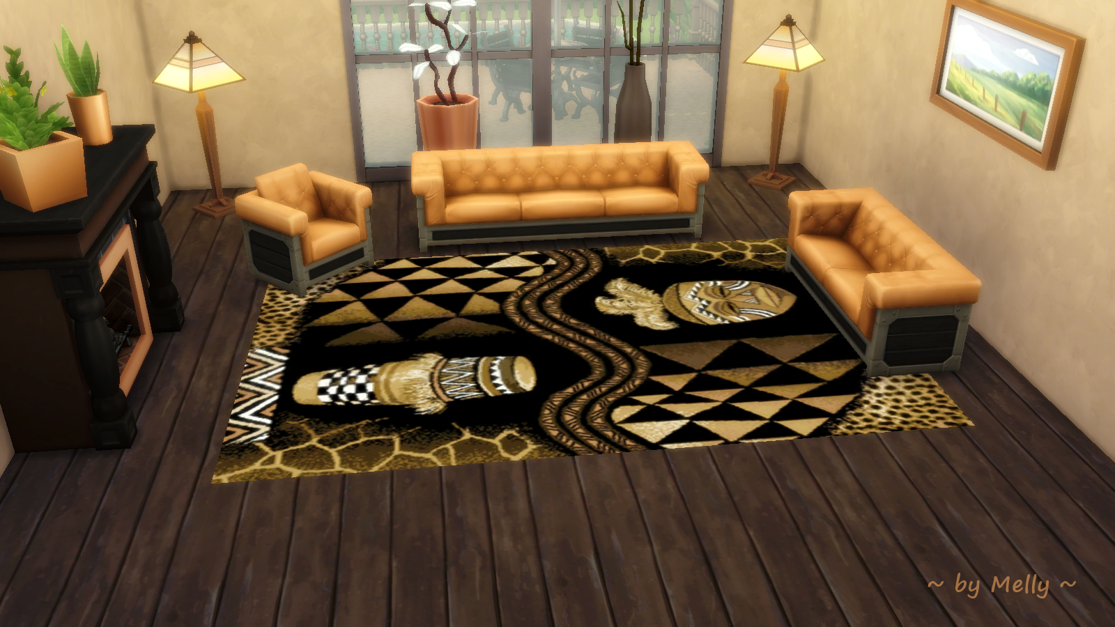 Sims 3 Teppiche Download Sims Houses By Melly Rugs 008 Afrika Style