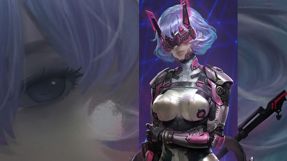 Sci-Fi, Cyberpunk, Girl, Warrior, 4K, #4.3089