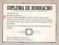 diploma de borracho