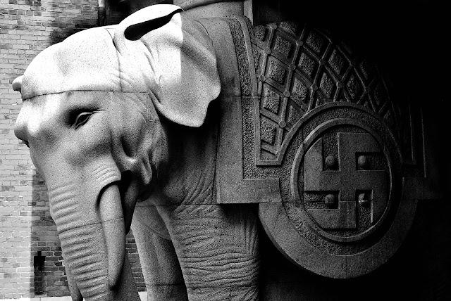 The Elephant Gate at Carlsberg in Copenhagen, Denmark