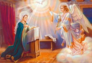 Imagen de la Virgen María frente al Angelus