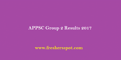 APPSC Group 2 Results 2017 For Screening Test