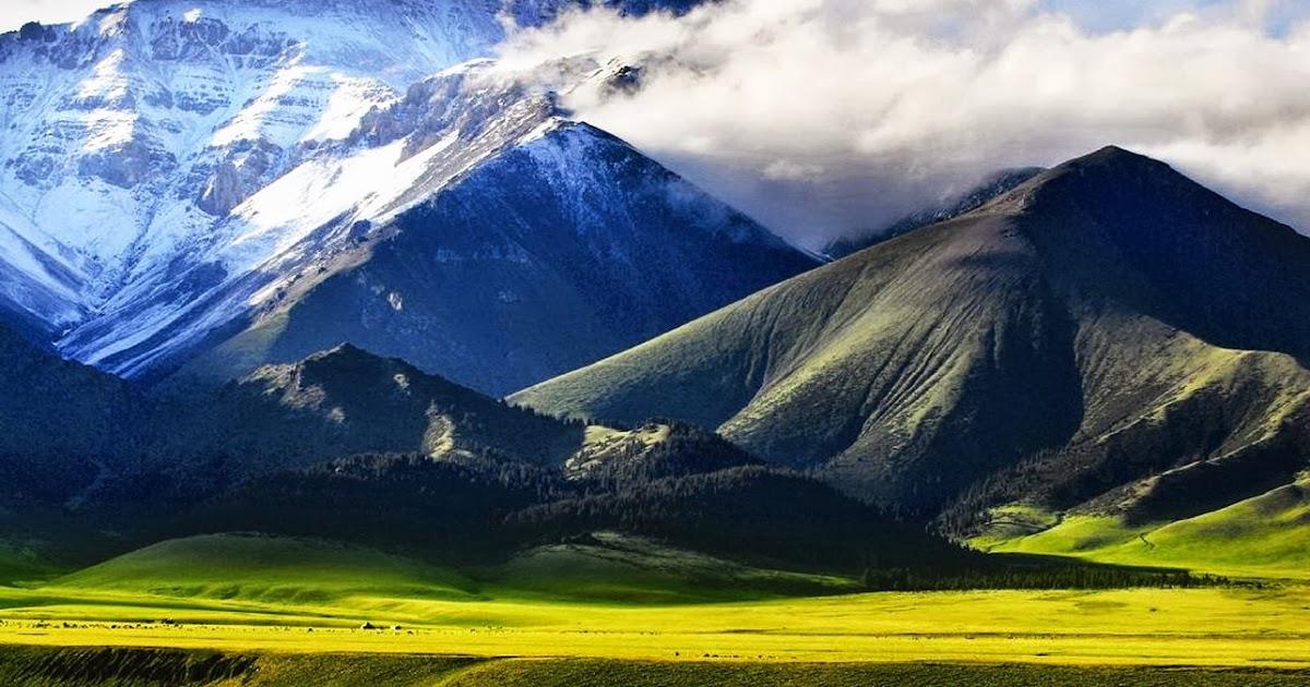 Fondo De Montañas Nevadas En Hd: Fondo De Pantalla Naturaleza Montañas Nevadas