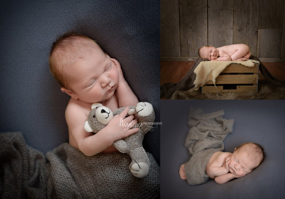 DeKalb Sycamore, IL top newborn photography studio | Newborn baby boy