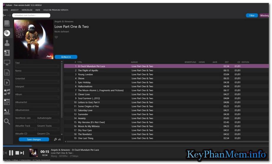 Helium Music Manager 13.1 Build 14998 Premium Edition Full Key, Phần mềm quản lý nhạc chuyên nghiệp