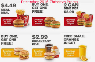 Mcdonalds coupons for december 2016