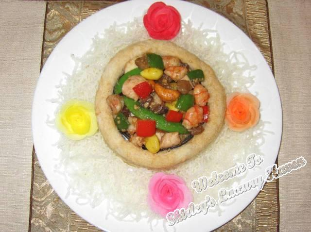 colourful cny yam ring seafood recipe
