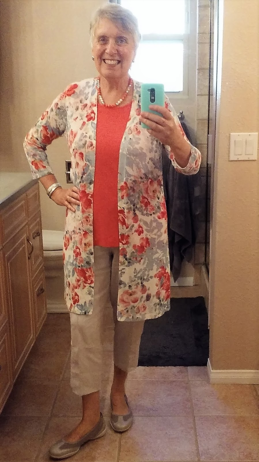 1a584ab75c5 Coral is a signature color for me and it makes me happy. Completely new  outfit on the left was bought with my son s September S. California wedding  weekend ...