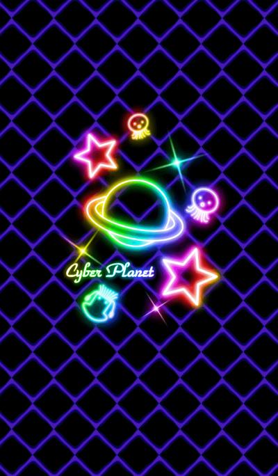 Cyber Planet -Neon rainbow-