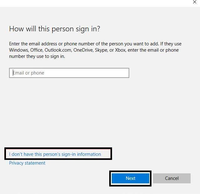 """إنشاء حساب مسؤول جديد """"New Administrator"""" في ويندوز 10"""