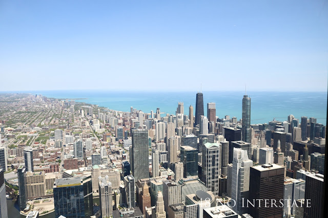 48 No Interstate back roads cross country coast-to-coast road trip Chicago city skyline Willis Sears Tower Skydeck
