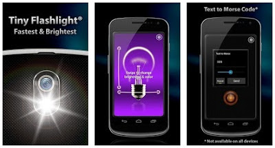 Aplicación linterna para el móvil Tiny Flashlight