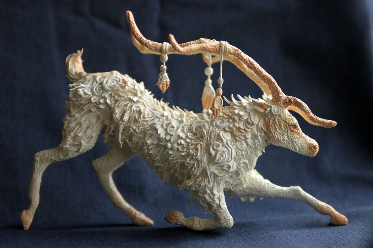What Is Velvet Made Of Fantasy Animal Sculpture Made Of Velvet Clay Art Craft