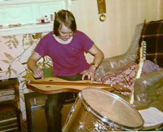 JM Davis (dulcimer) rehearsing at home