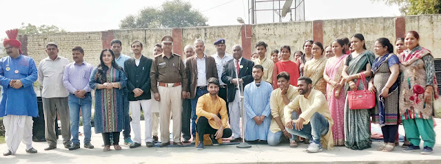 Nodal Officer of Road Safety, Doctor MP Singh made awareness among the children
