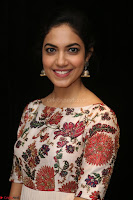 Ritu Varma smiling face Cream Anarkali dress at launch of OPPO New Selfie Camera F3 ~  Exclusive 043.JPG
