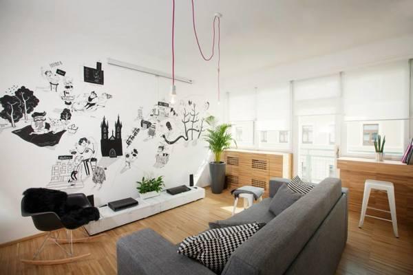kresba na stene