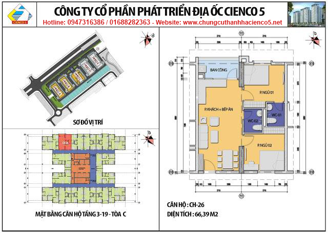 Sơ đồ thiết kế căn 26 chung cư B2.1 HH02C Thanh Hà Cienco 5