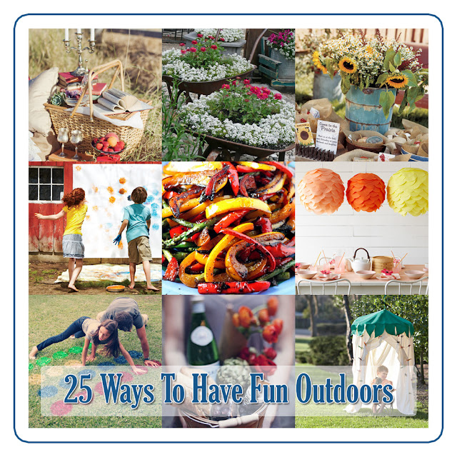 Here are 25 ways to have fun while outdoors.