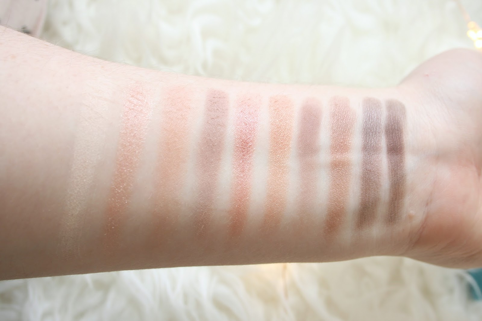 Elf Cosmetics Rose Gold Eyeshadow Palette Swatches