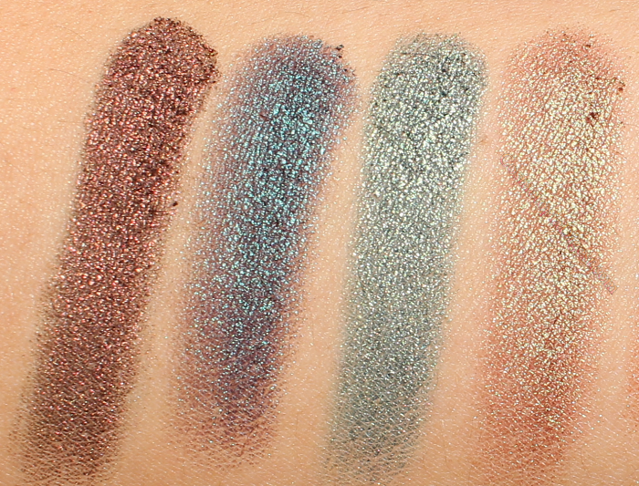 Makeup Geek Duochrome Eyeshadows: Steampunk, Secret Garden, Typhoon, Ritzy, Havoc, Karma, and Mai Tai.