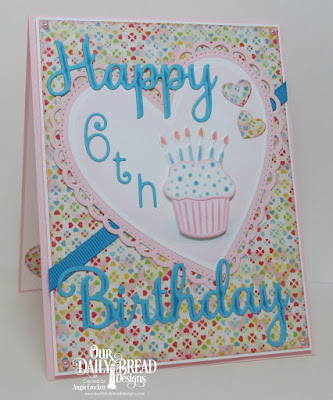 ODBD Custom Happy Birthday Dies, ODBD Custom Numbers Dies, ODBD Custom Cakes and Candles Dies, ODBD Custom Mini Stitched Hearts Dies, ODBD Custom Ornate Hearts Dies, ODBD Birthday Bash Paper Collection, Card Designer Angie Crockett