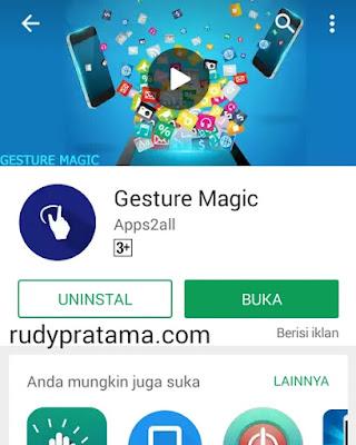 Membuka aplikasi dengan isyarat